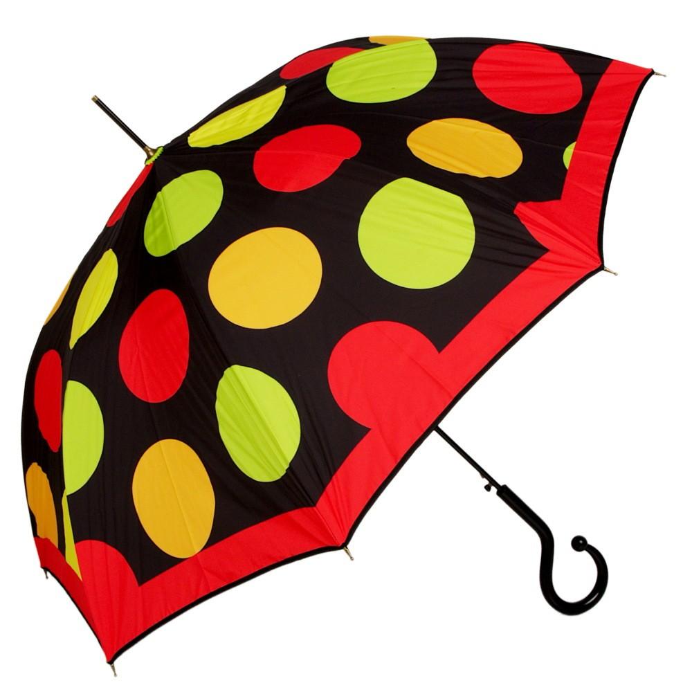 Зонт-трость Moschino Maxi Pois long Black