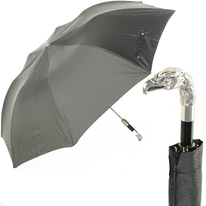 Зонт складной Pasotti Auto Eagle Silver Onda Black