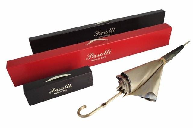 Зонт складной Pasotti Auto Eagle Silver Onda Black — 1114