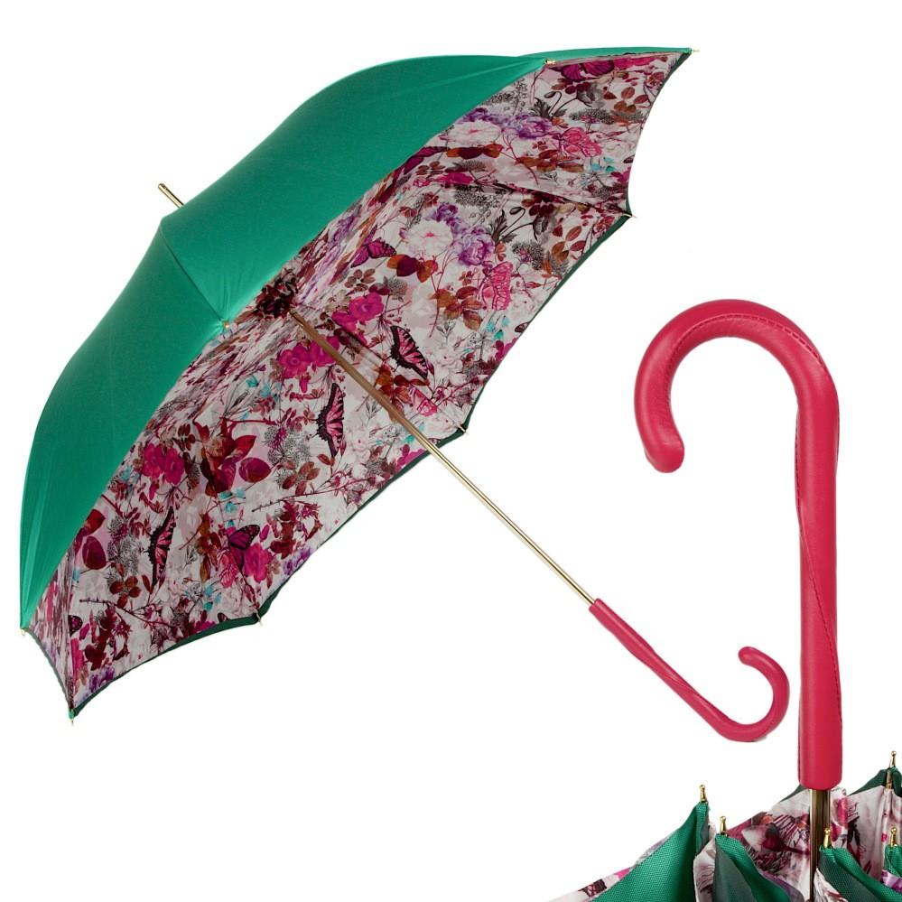 Зонт-трость Pasotti Izumrud Butterfly Fuxia Original