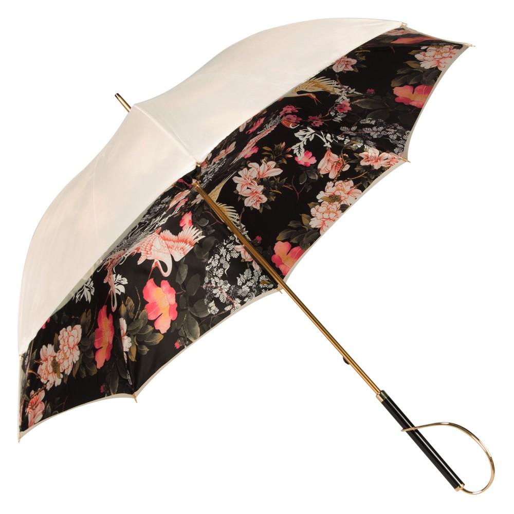 Зонт-Трость  Pasotti Ivory Crane Nero Rapira