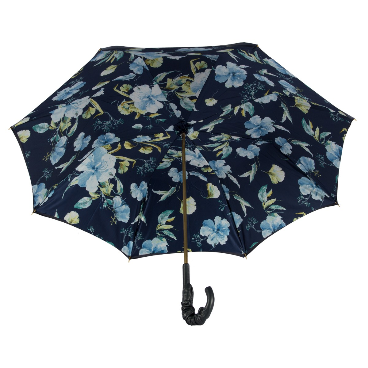 Зонт-трость Pasotti Blu Magnolia Pelle