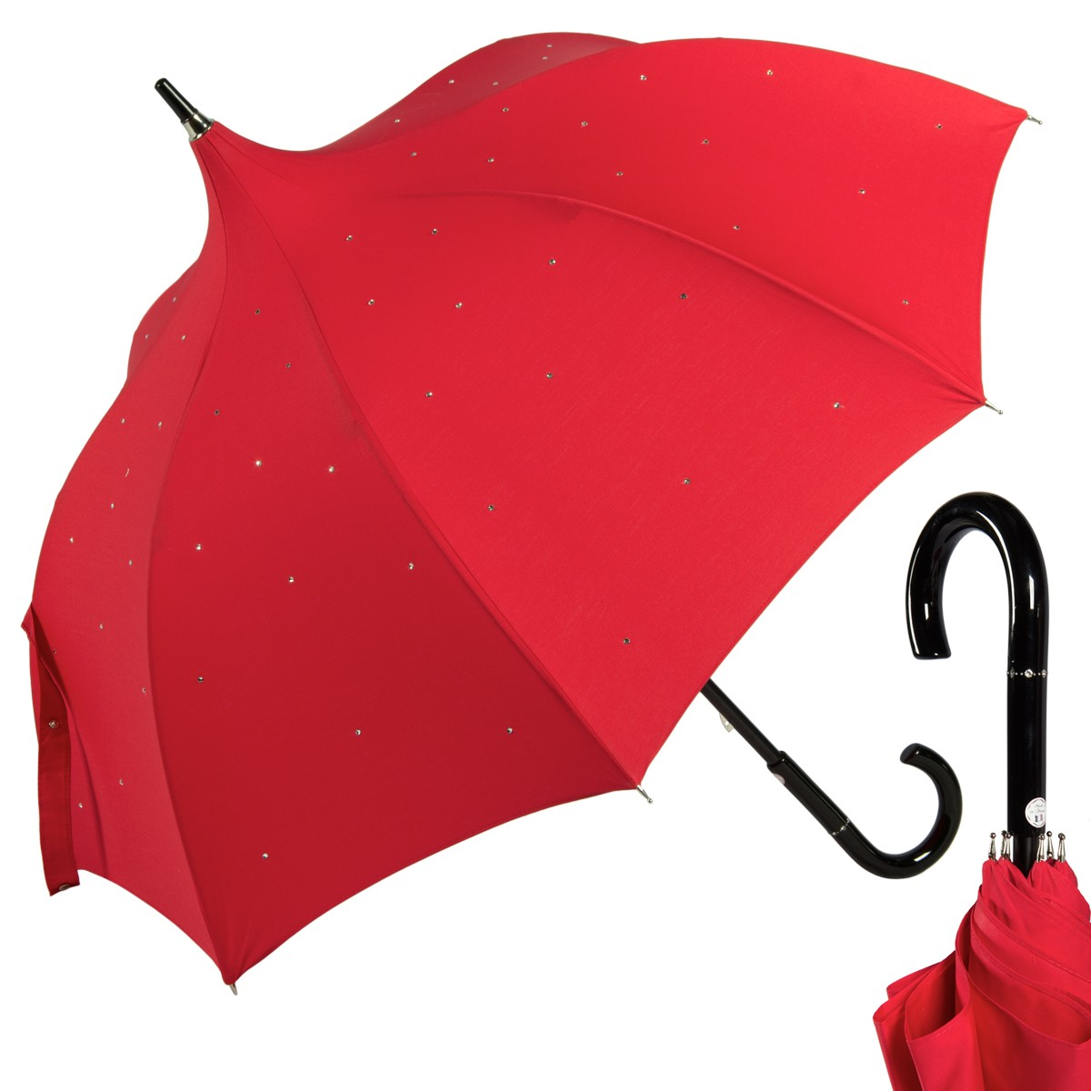 Зонт-трость CT Pagoda Strass Red