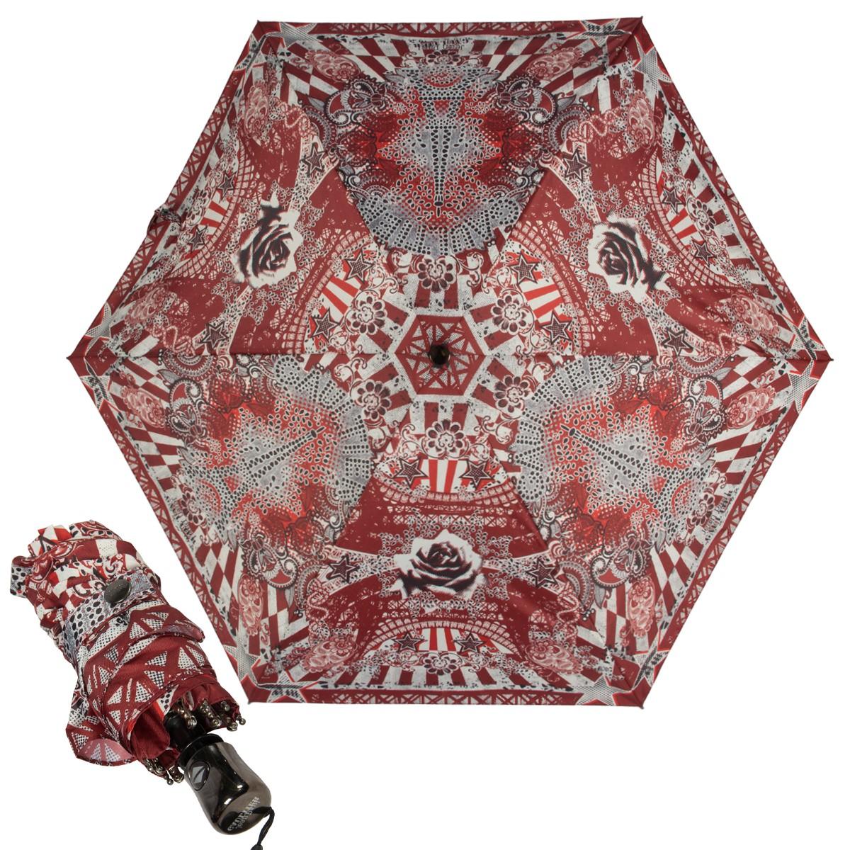 Зонт складной Jean Paul Gaultier mini Tour Eiffel Red