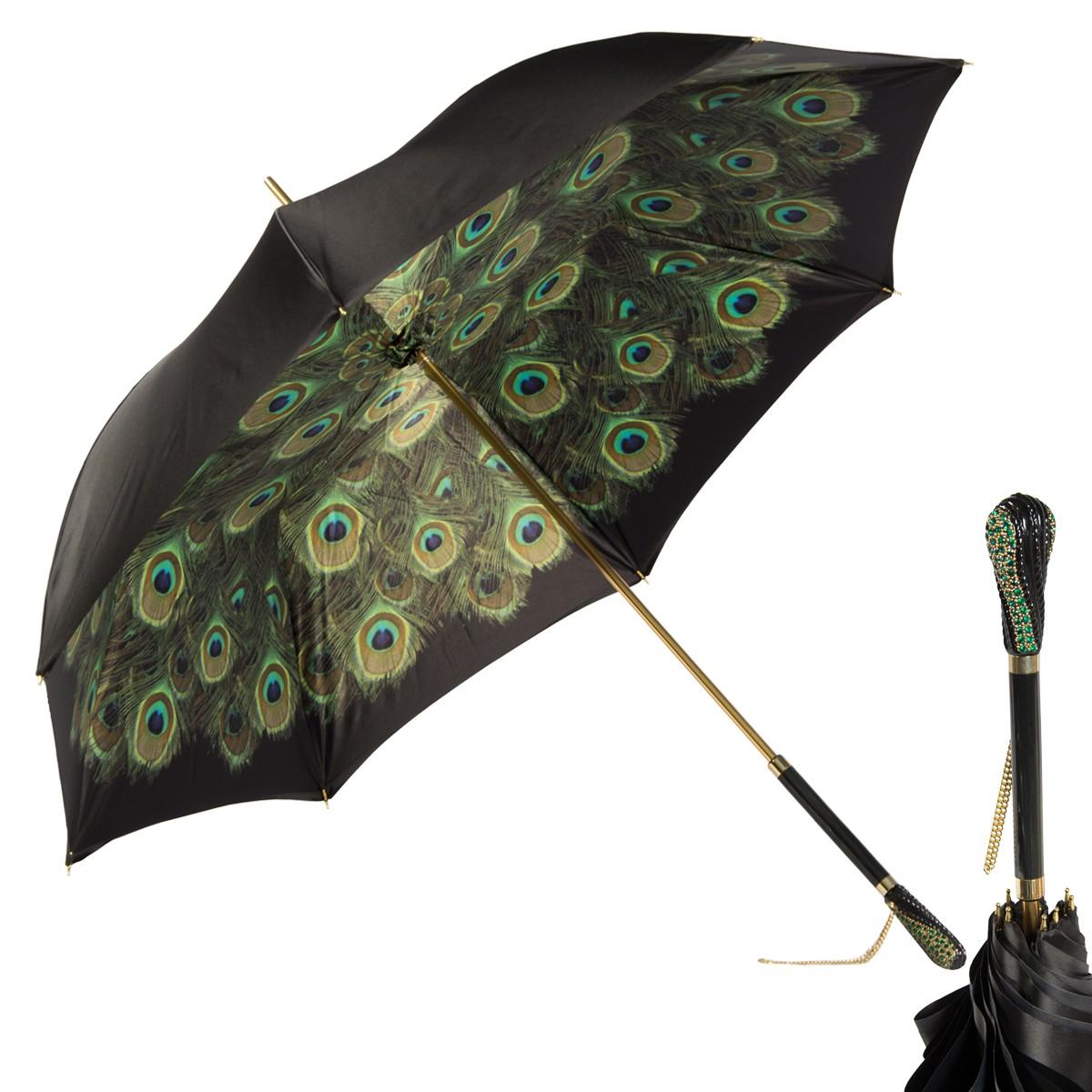 Зонт-трость Pasotti Nero Hawaii Swarovski