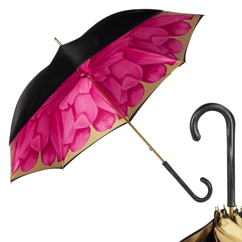 Зонт-трость Pasotti Nero Geo Rosa Original