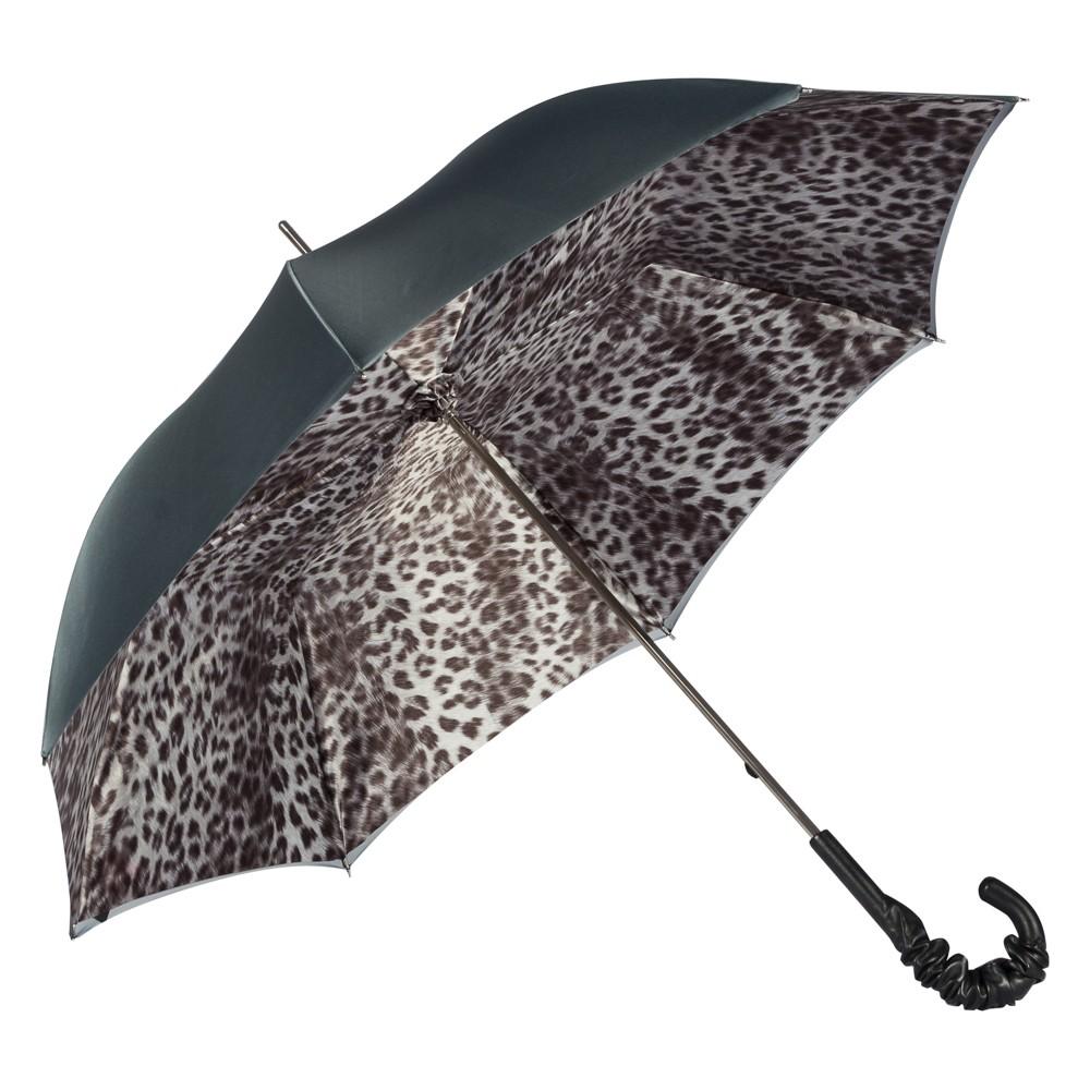 Зонт-трость Pasotti Becolore Grigio Leo Pelle