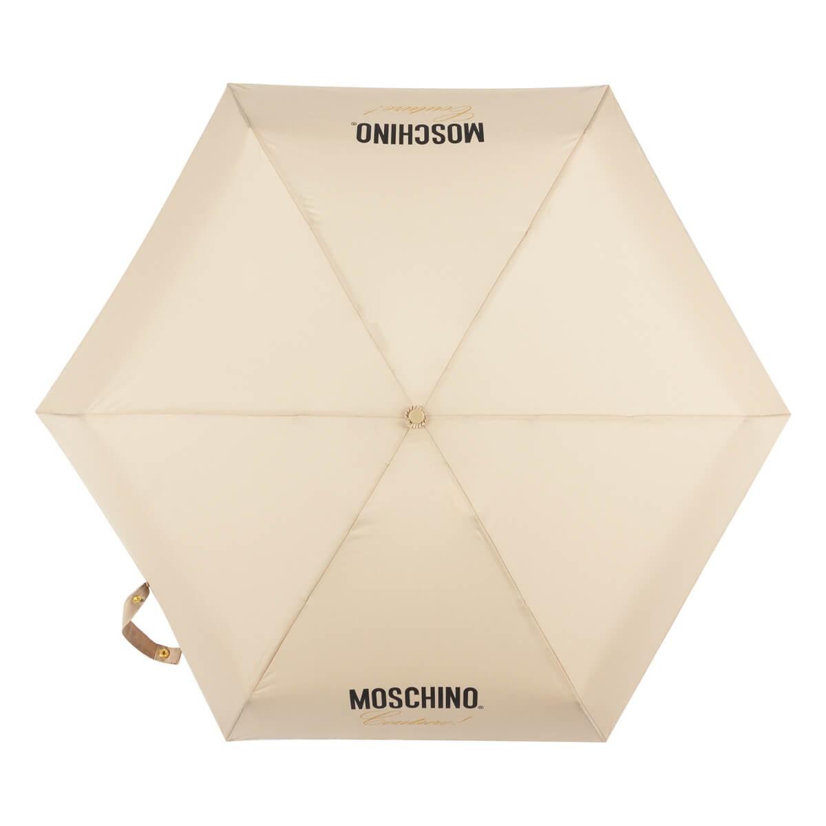 Зонт складной Moschino 8014-superminiD Couture! Dark Beige