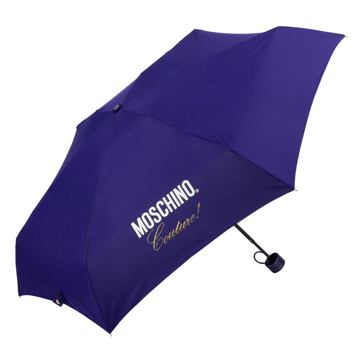 Зонт складной Moschino 8014-superminiF Couture! Blue