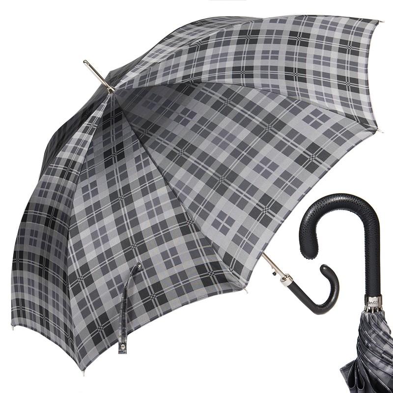 Зонт-трость Pasotti Classic Pelle Celtic Grey